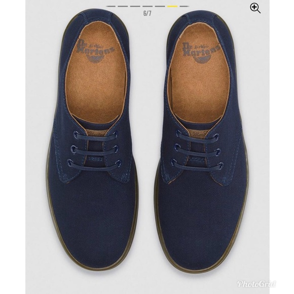 classic style get cheap cheap for sale Dr. Martens Delray Twill Canvas Navy Mens Shoe